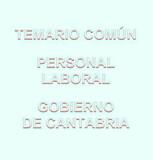 TEMARIO COMÚN PERSONAL LABORAL CANTABRIA - foto
