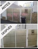 limpieza de graffitis en comunidades - foto