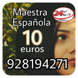 Maestra española consulta 10 euros  - foto