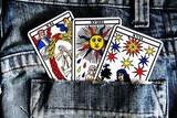 tarot, vidente, echar las cartas, fuerte - foto