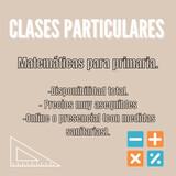 CLASES PARTICULARES DE MATEMÁTICAS.  - foto