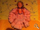 MuÑeca antigua vestido sevillanas rosa, - foto