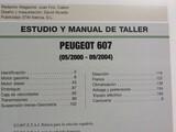 PEUGEOT 607 2. 2 HDI V6 MANUAL DE TALLER - foto