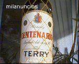 Brandy centenario TERRY  SELLO 8 pesetas - foto