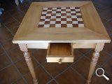 Mesa de ajedrez nogal - foto
