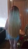 Extensiones de cabello muy largas - foto