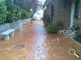 Pavimento de hormigon impreso - foto
