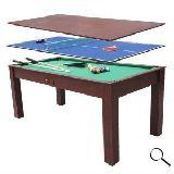 billar ping pong mesa comedor 3 en 1 - foto