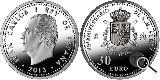 Moneda de PLATA de 30 euros - foto