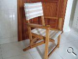 Silla infantil de madera y lona - foto